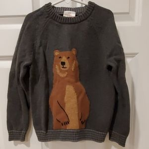 Hanna andersson boys bear sweater excellent 120